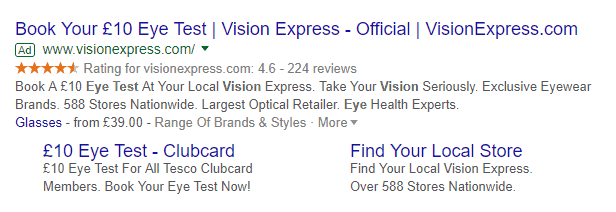 google ads for opticians
