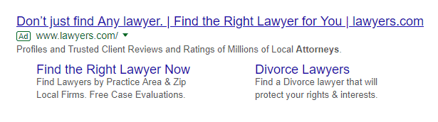 google ads for solicitors
